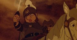 Cartoon Sam fantasizes about being Samwise the Strong.