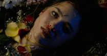 A bastardized version of Misa Amane lying dead.