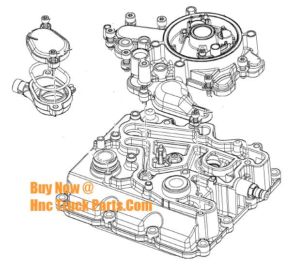 Navistar Engine Hard Parts: Oil Cooler Cover Kit 1858334C91