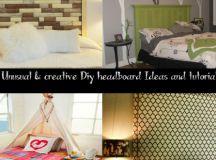 21 Unusual & Creative Diy Headboard Ideas and Tutorials ...
