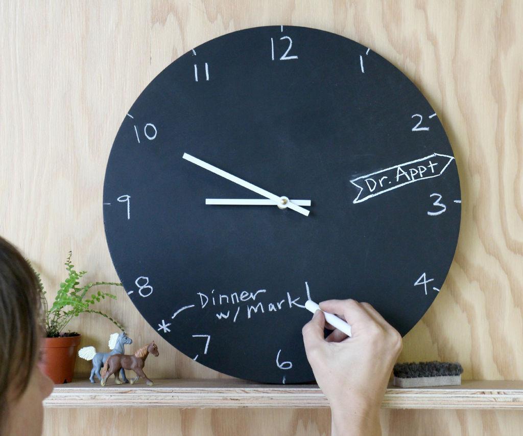 Clock Chalkboard Idea