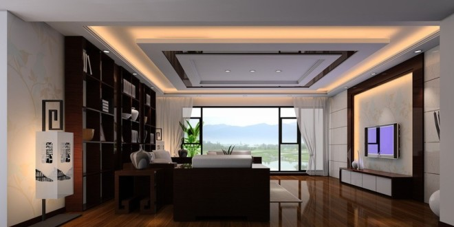 25 Elegant Ceiling Designs For Living Room – Home And Gardening Ideas