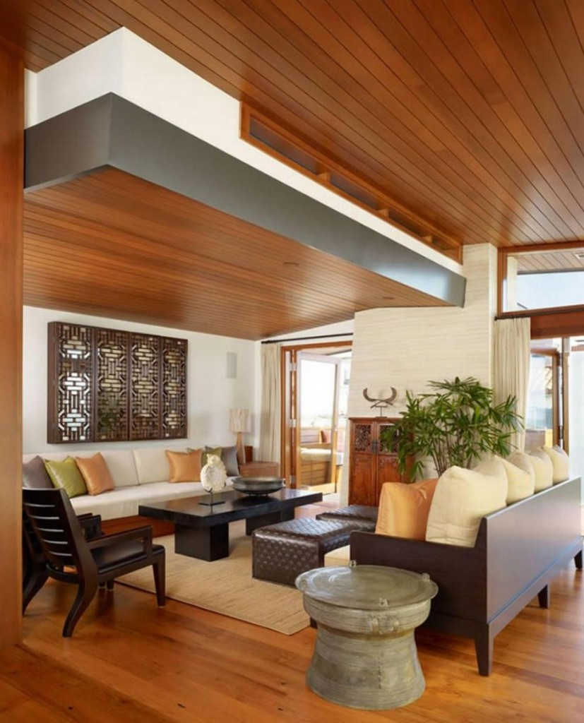 25 Elegant Ceiling Designs For Living Room  Home And