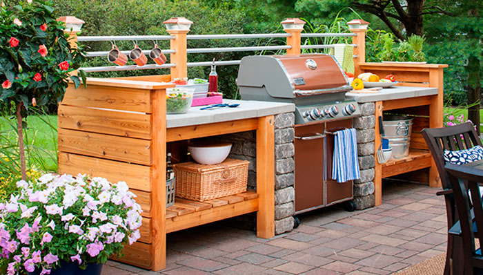 diy outdoor patio kitchen ideas 10 Outdoor Kitchen Plans-Turn Your Backyard Into Entertainment Zone – Home And Gardening Ideas