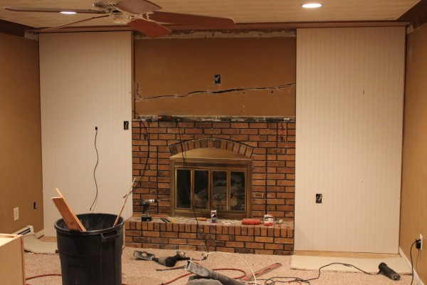 Floor To Ceiling Brick Fireplace Remodel Theteenline Org