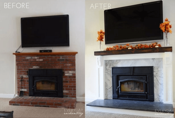Update Old Fireplace