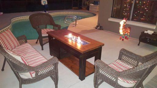 DIY Propan Ateş Çukuru Masası