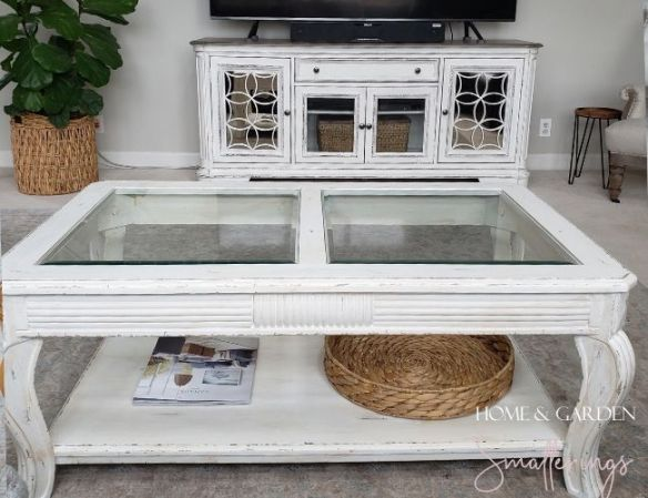 White Distressed Coffee Table 5 Easy Steps Video Home And Garden Smatterings