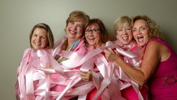 Friends Courtesy of Glenn Lowson Anne Kelly, left, Carrie Mines, Mary Luciani, Sheila Flis and Jo Devlin make a day out of getting their mammograms.