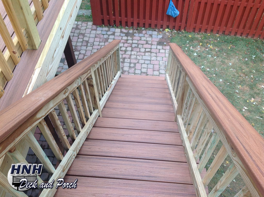 Deck Steps Gallery Hnh Deck And Porch Llc 443 324 5217 | Pressure Treated Deck Stairs | Flared | 5 Foot | Landing | Pre Built | Simple