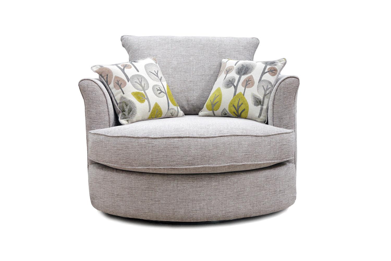 swivel chair ireland purple upholstered darwin harvey norman