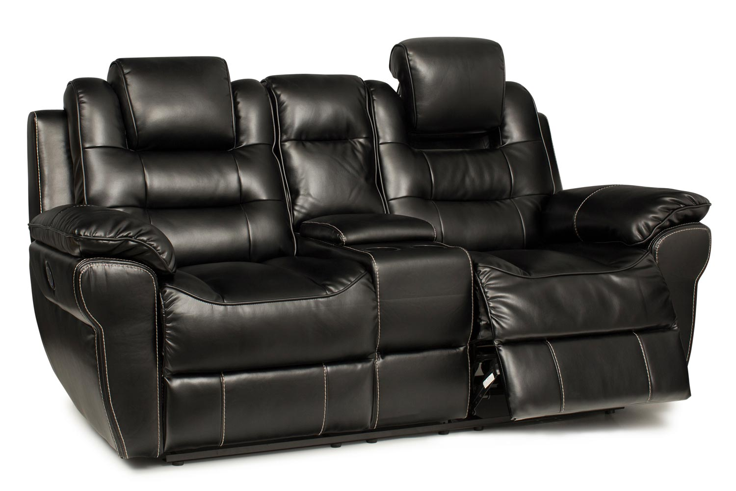 leather recliner chairs harvey norman office chair vastu baxter 2 seater electric with console black