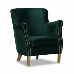 Classic Chair Covers Ireland Low Profile Folding Lincoln Bedroom Arm Velvet Green