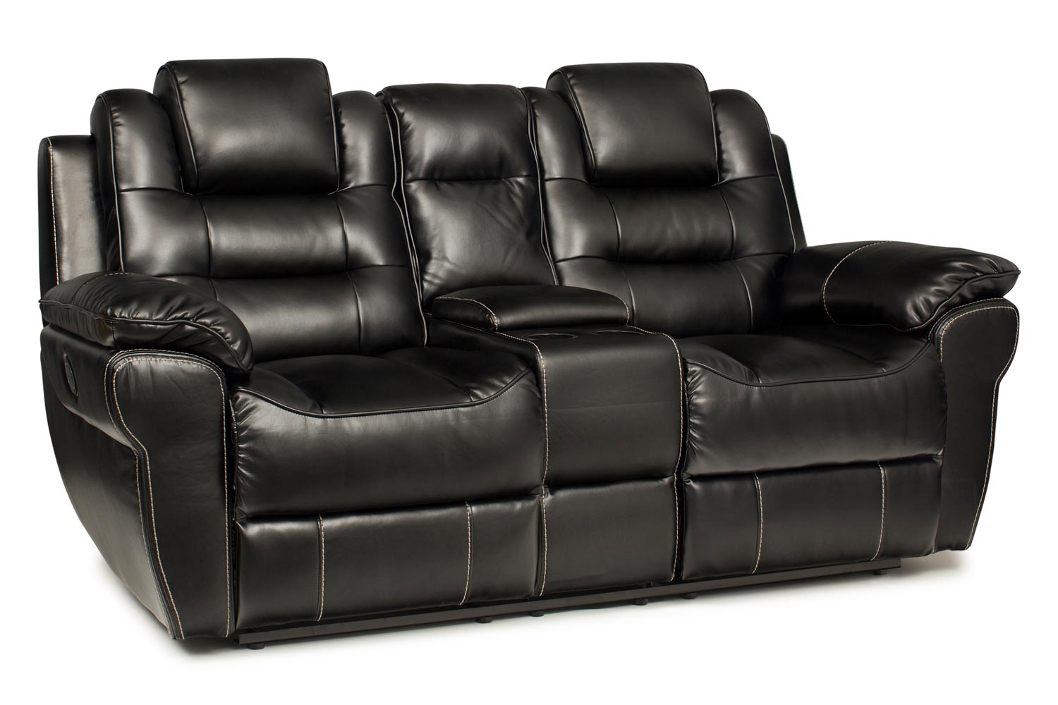black reclining sofa with console outdoor perth gumtree baxter 2 seater electric recliner ireland