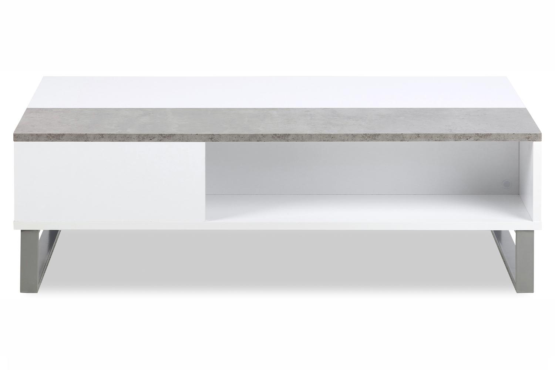 alex coffee table white rectangular