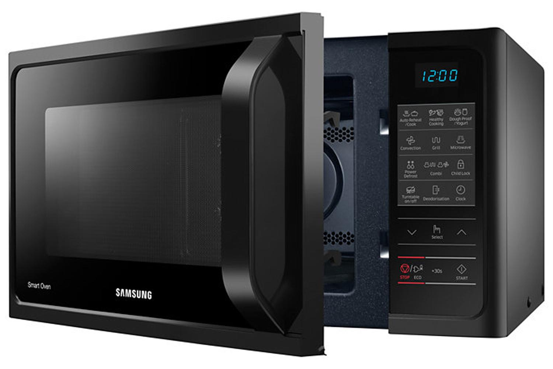 samsung 28l 900w freestanding combination microwave mc28h5013ak eu black