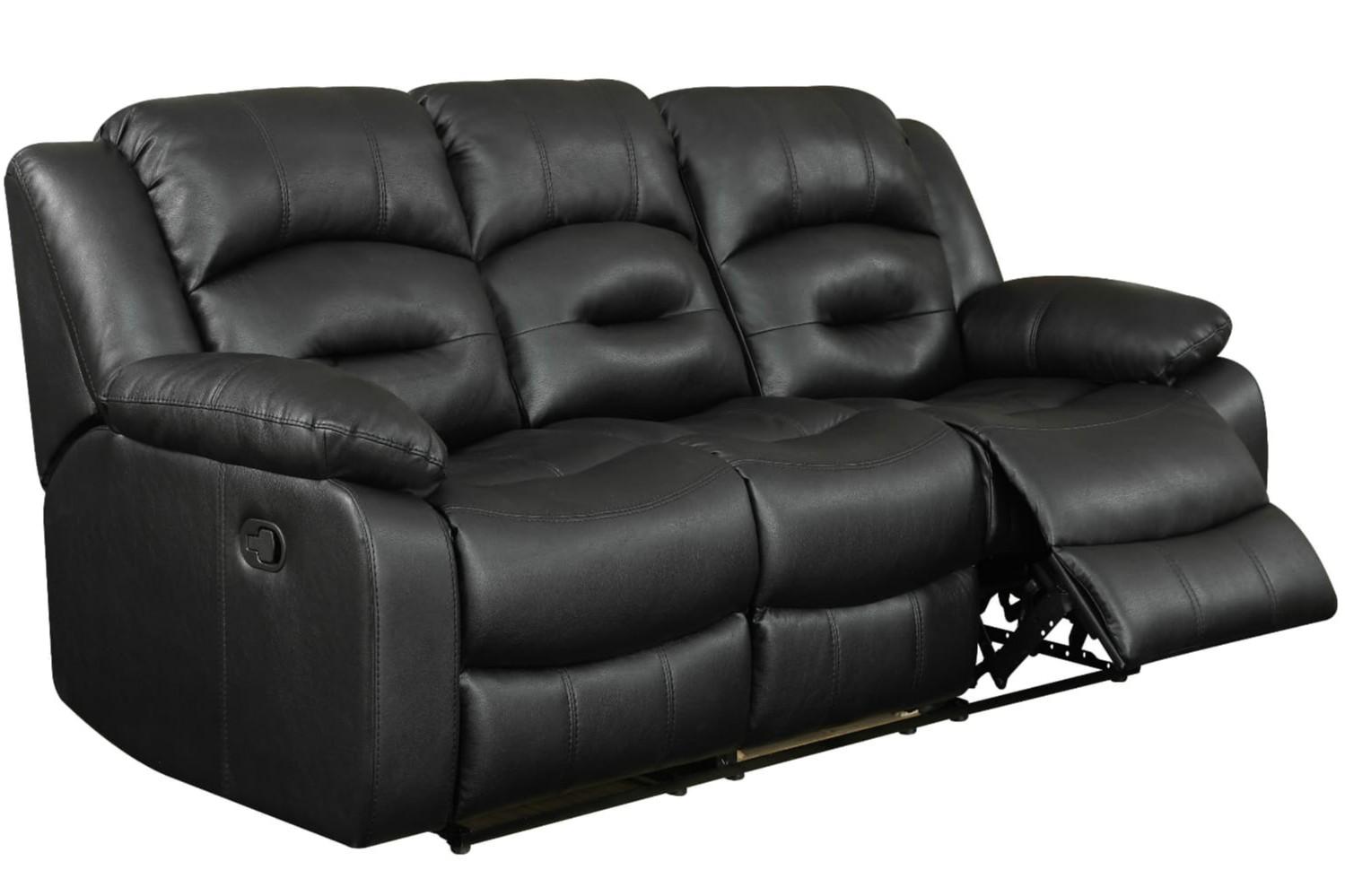 3 seater sofa black leather cama chaise longue modular hunter recliner harvey norman sofas ireland