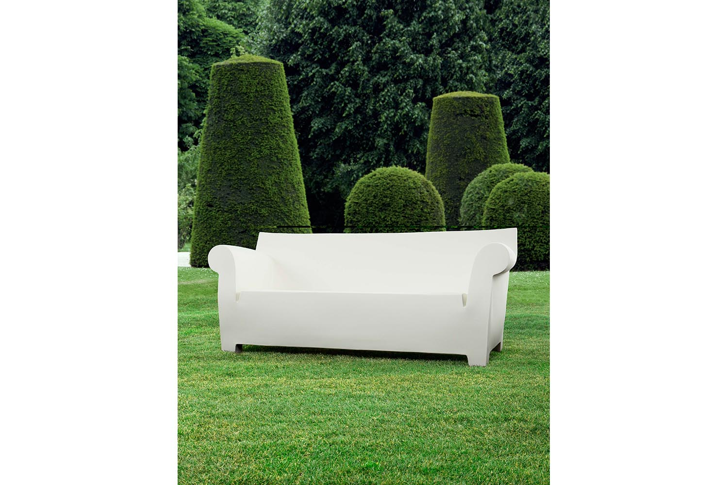 bubble club sofa cream arm covers by philippe starck for kartell space