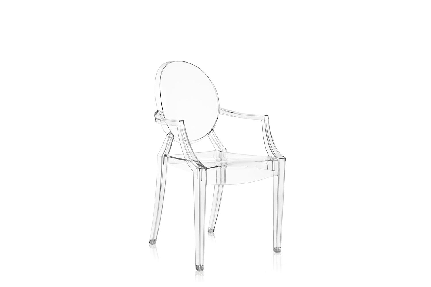 philippe starck ghost chair green dining room table and chairs louis with arms by for kartell