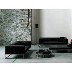 46 Deep Sofa Brown Leather Tufted Sectional Ile Club By Piero Lissoni For Living Divani | Space ...