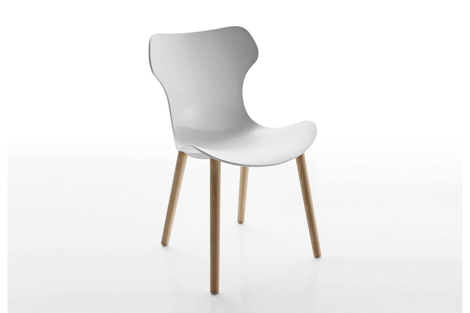 white shell chair cheap card table and chairs set papilio by naoto fukasawa for b andb italia