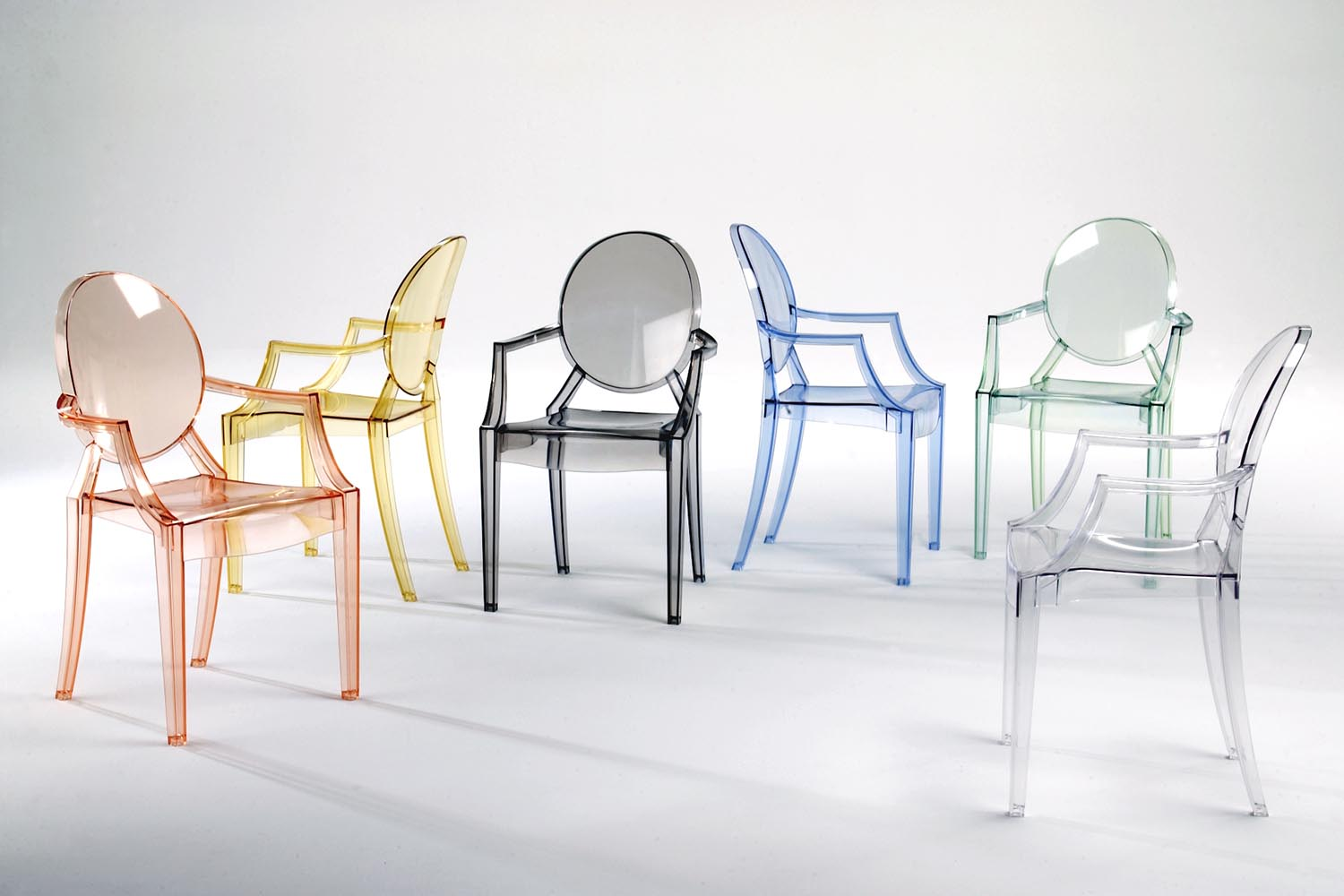 Kartell Muebles Louis Ghost Chair With Arms By Philippe Starck For Kartell