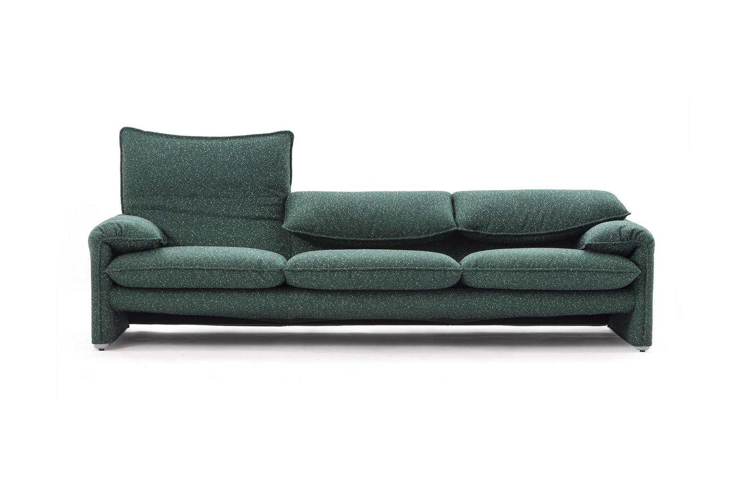 a sofa in the forties cushions black and white 675 maralunga 40s by vico magistretti for cassina