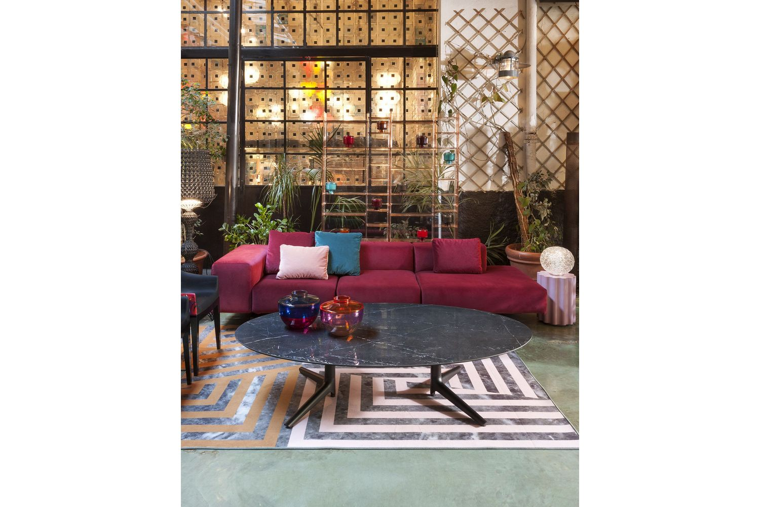 kartell sofa largo maxwell leather velluto by piero lissoni for space