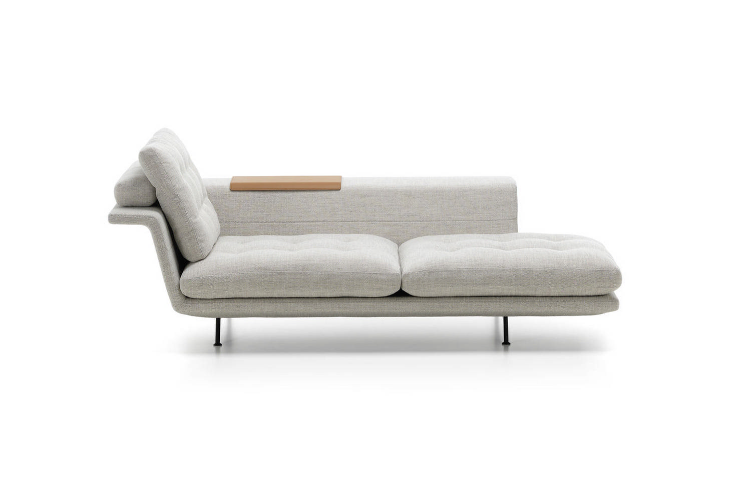 grand sofa tan leather set chaise longue by antonio citterio for vitra