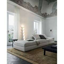 Dune Sofa White Leather And Loveseat By Carlo Colombo For Poliform Australia