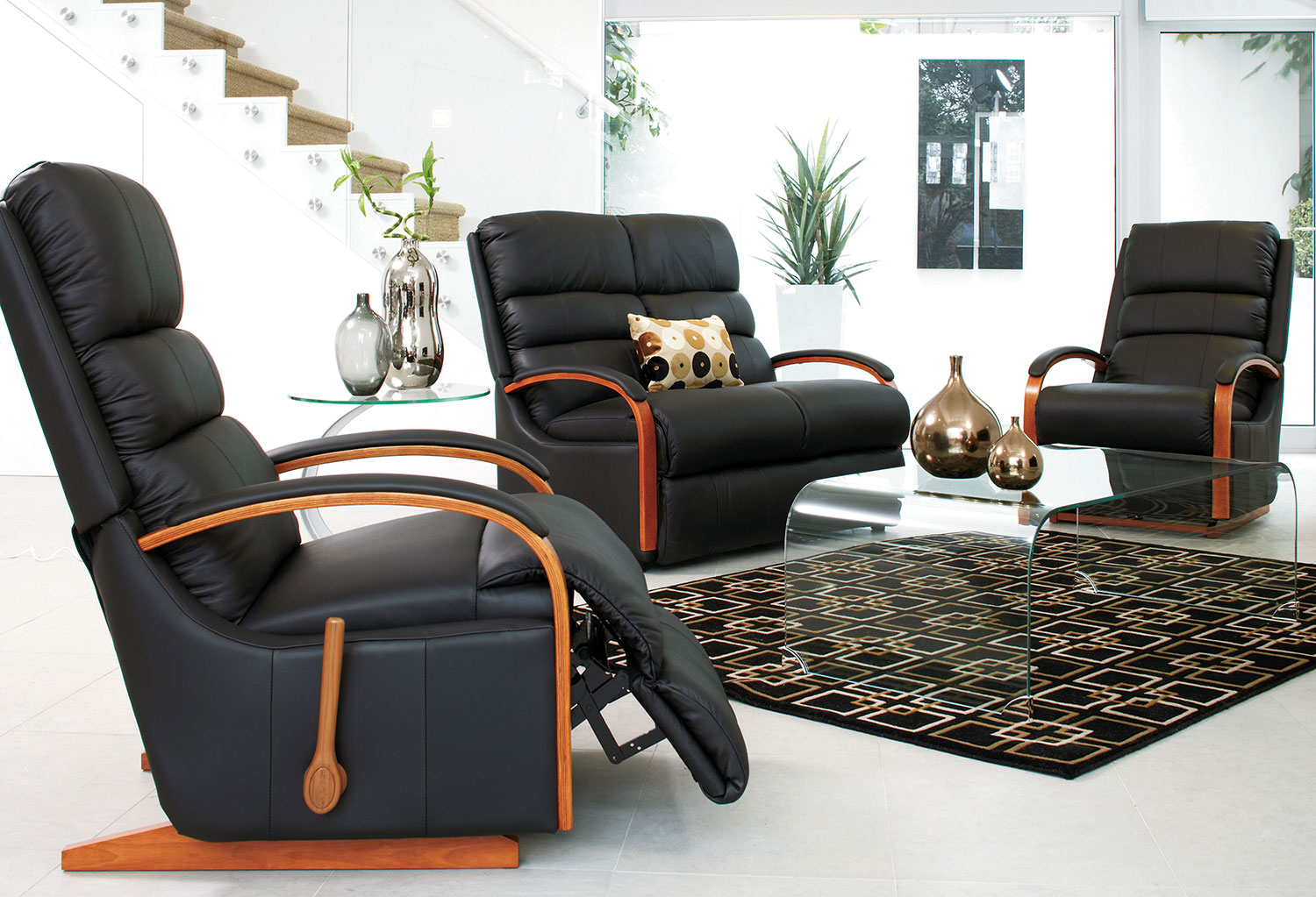lazy boy chairs nz small bean bag chair charleston 3 piece leather recliner lounge suite by la z