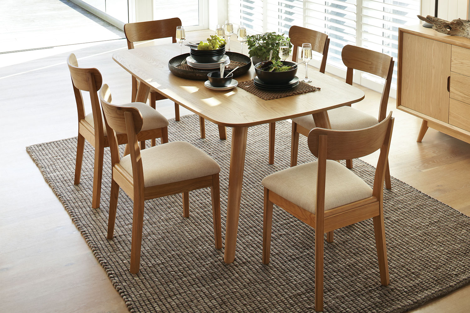oslo posture chair nz high heel for sale 7 piece dining suite by vivin harvey norman new zealand