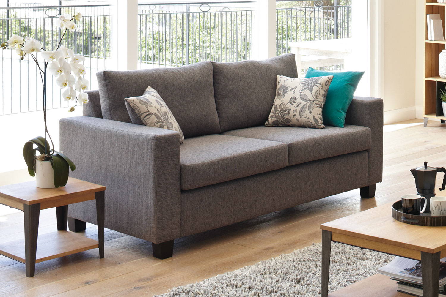 cooper sofa harvey norman beige leather bed vogue microfiber reversible chaise sectional