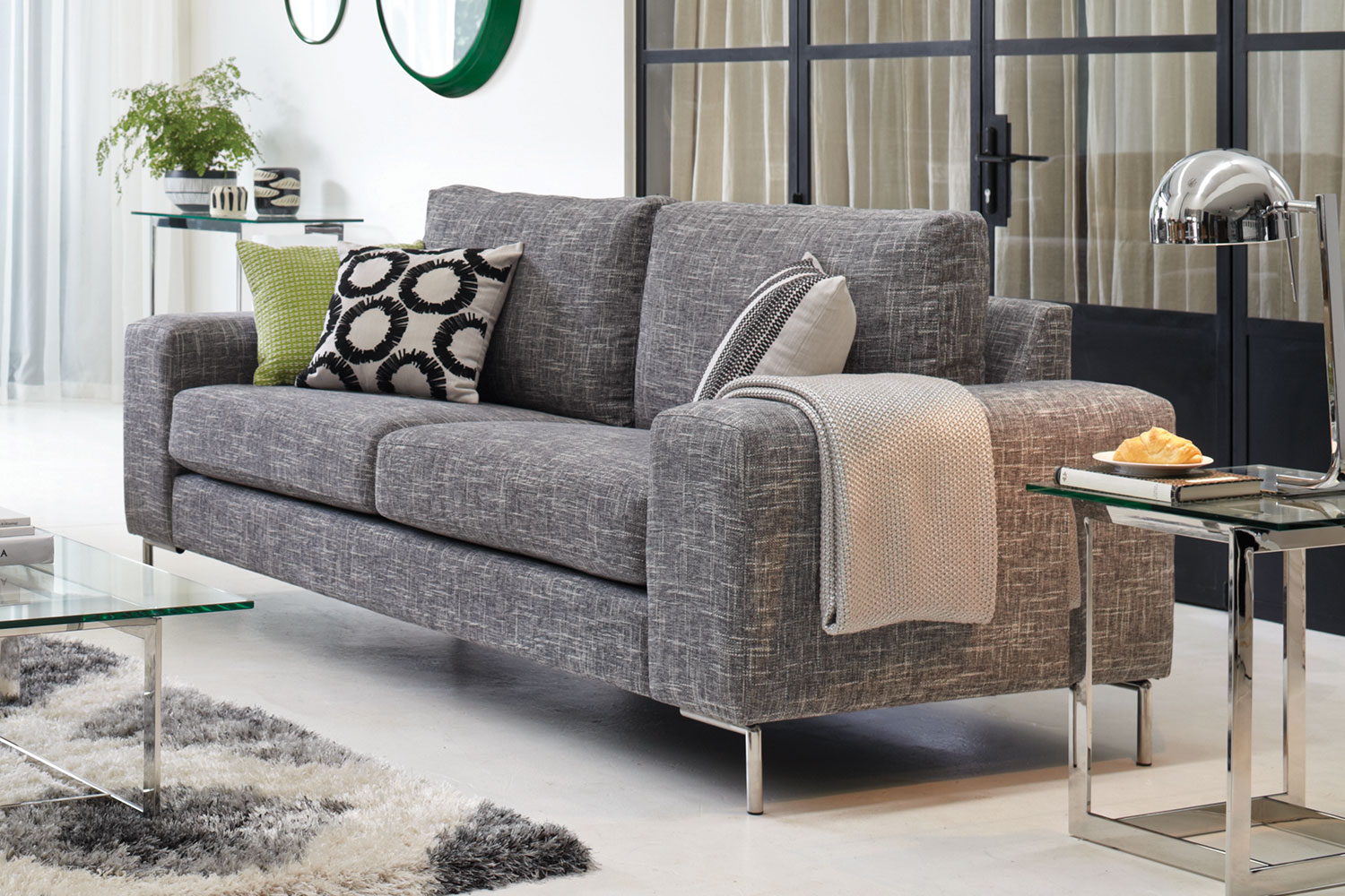 3 seater fabric sofa sellers andros by evan john philp harvey norman new zealand