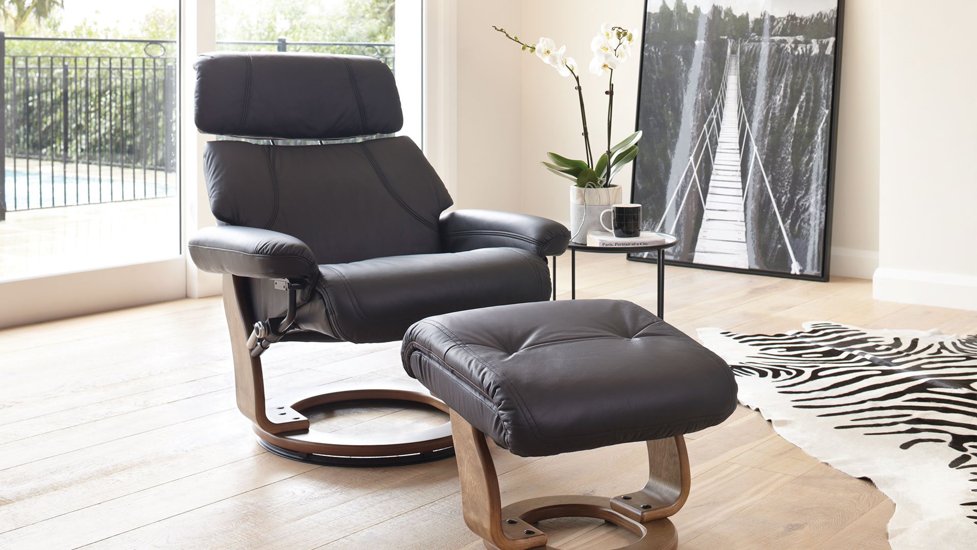 leather recliner chairs harvey norman upholstered kids chair gostenbury and foot stool by