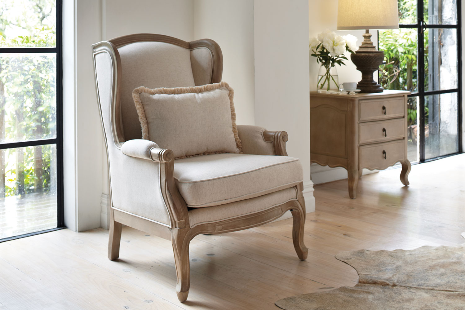 french provincial adele occasional chair plastic folding lounge outdoor wing by vivin harvey norman new zealand