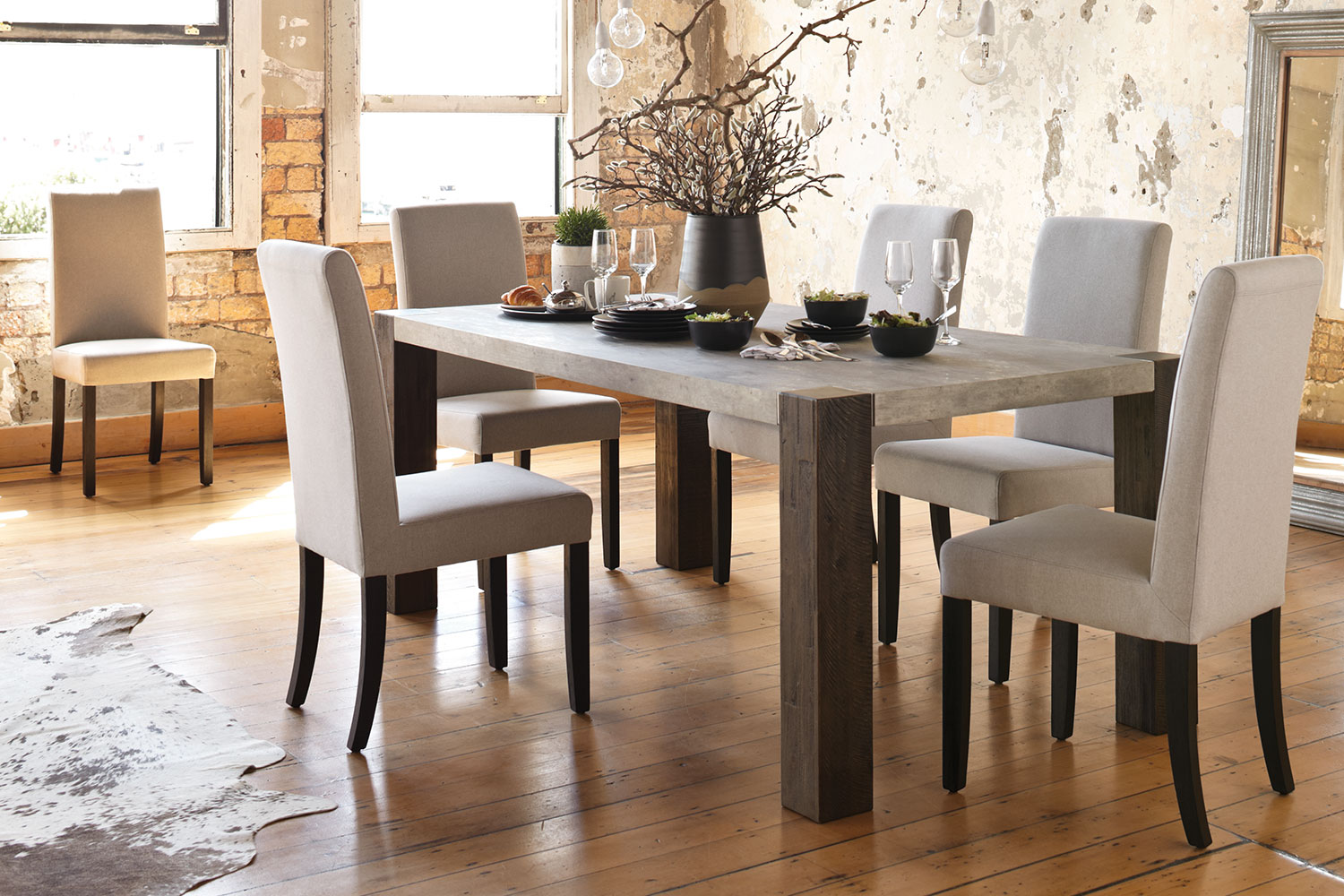 Faro 7 Piece Dining Suite by LaZBoy  Harvey Norman New