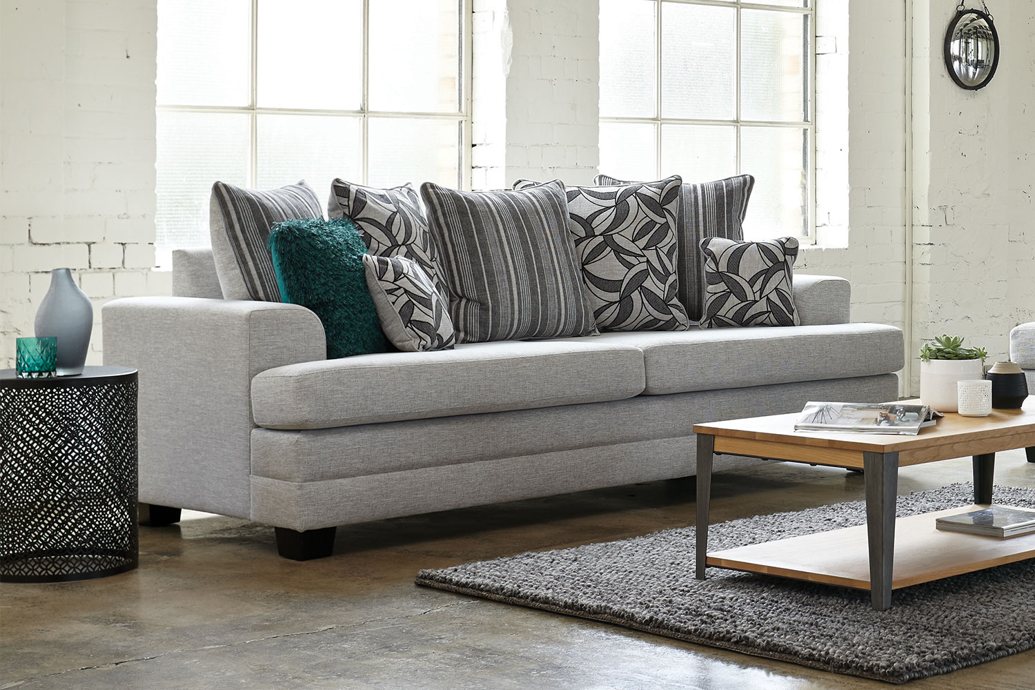 2 seater sofa new zealand gray leather decorating ideas evolution piece fabric lounge suite by white rose ...