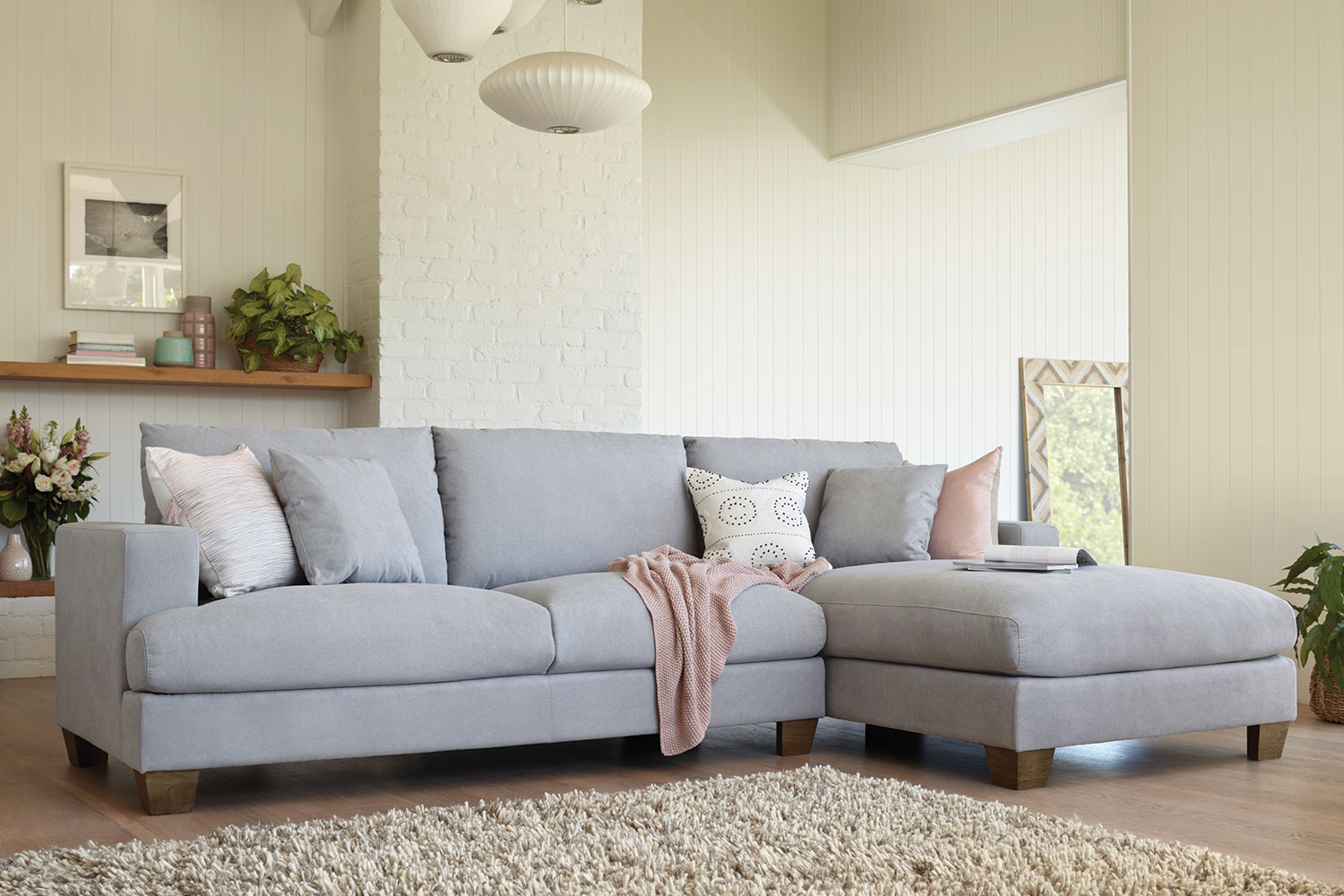 sofa w chaise american leather bed eton 2 5 seater fabric with by dixie cummings harvey norman new zealand