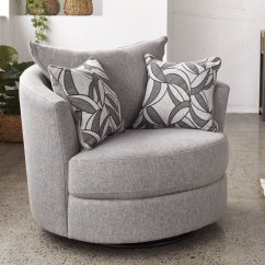 Swivel Chair Harvey Norman Baby Bean Bag Chairs Personalised Greystone Small Fabric New Zealand