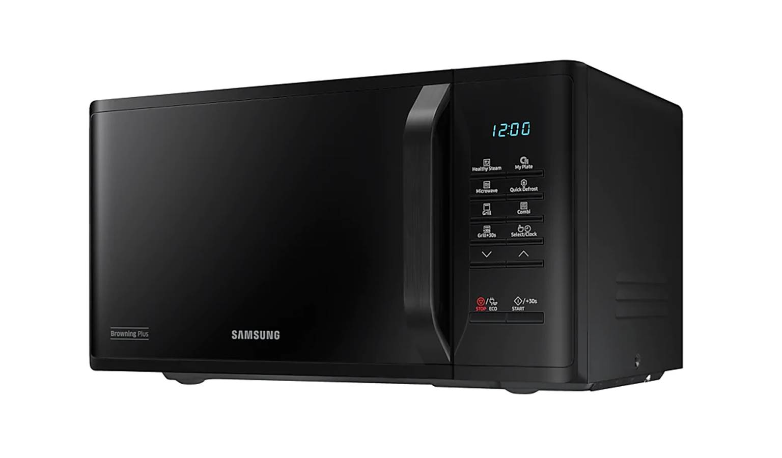 samsung mg 23k3513gk sm 23l grill microwave oven with healthy steam