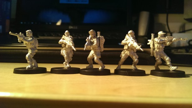 All models constructed and unpainted