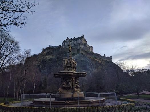 Edinburgh Castle from Ross Fountain, 06/02/2017
