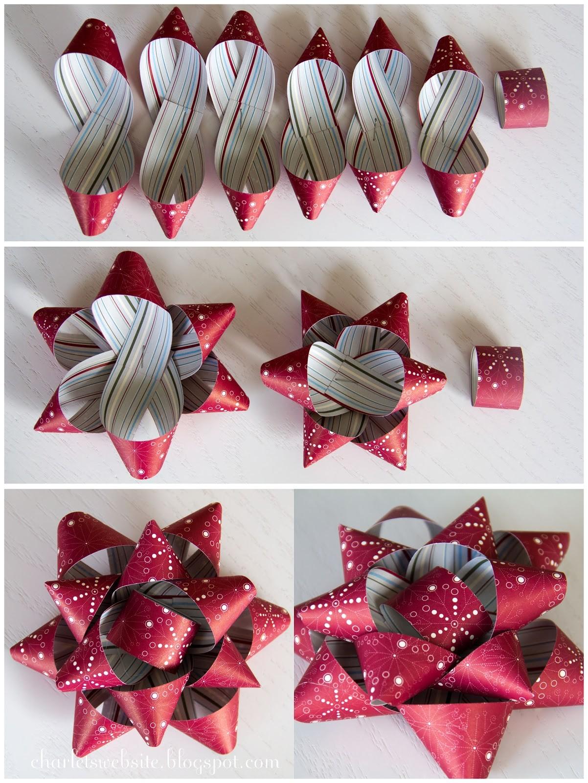 Новогодние поделки из бумаги своими руками: делаем бумажный бант для декорирования подарков