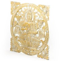 Intricate Wooden Carved Gold Buddha Wall Panel | eBay