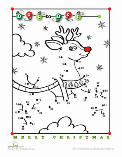 christmas dot to dot printables part 5