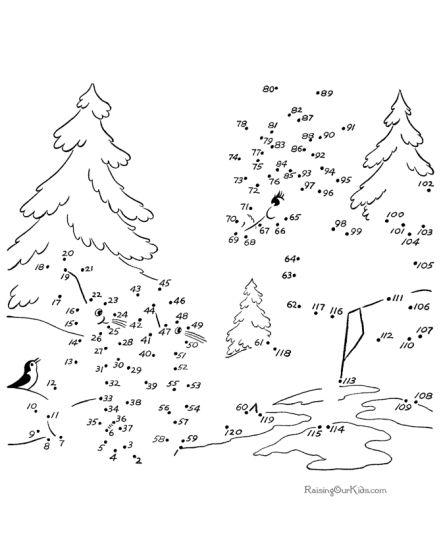christmas dot to dot printables part 1