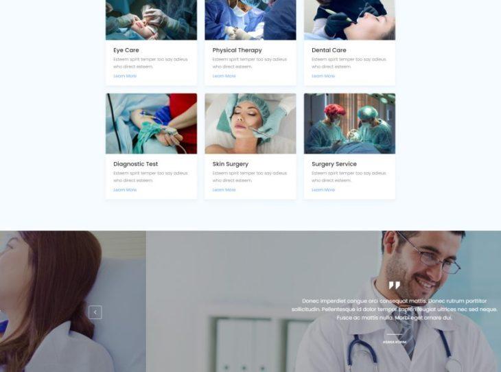 Mẫu web Y tế & Sức khỏe 02