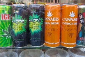 Orange cannabis drinks