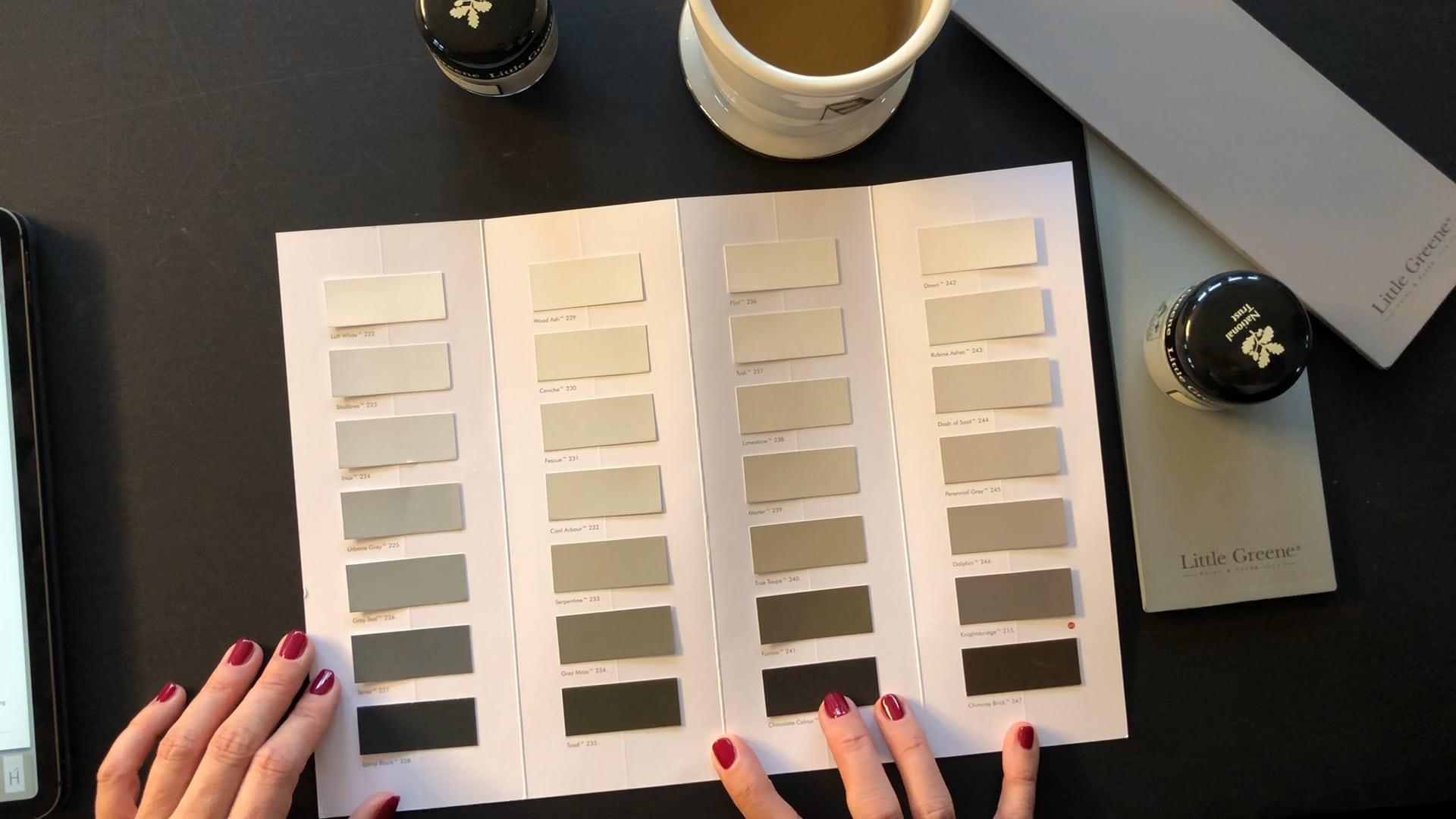 Welche Wandfarbe? Farbenlehre kalte und warme Farben warmes Grau kaltes Grau Taupe